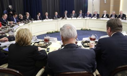 Putin trifft deutsche Wirtschaft