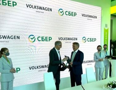 Volkswagen und Sberbank vertiefen Zusammenarbeit